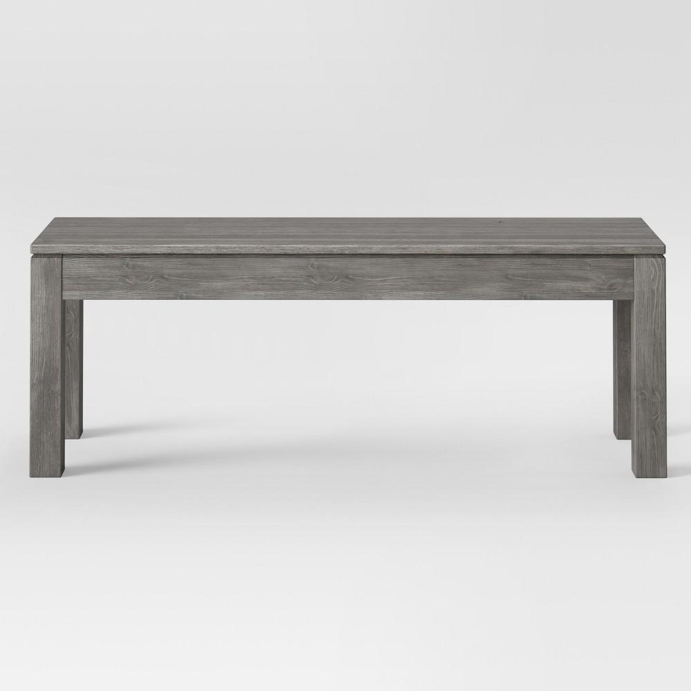 50 Grafton Dining Bench Gray - Threshold