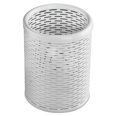 Artistic Urban Collection Punched Metal Pencil Cup 3 1/2 x 4 1/2 White ART20005WH