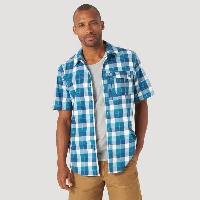 Wrangler Men's Short Sleeve Button-Down Shirt