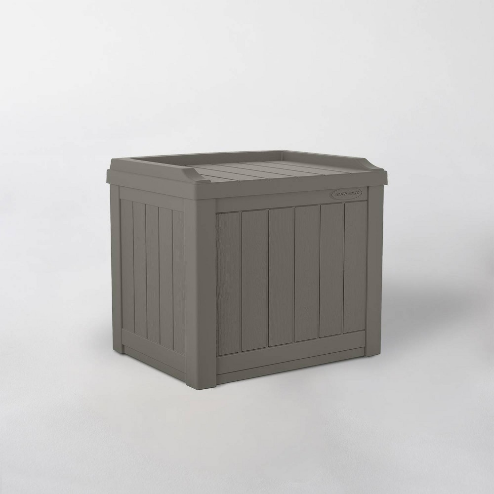 Image of 22gal Storage Seat Resin Deck Box - Suncast
