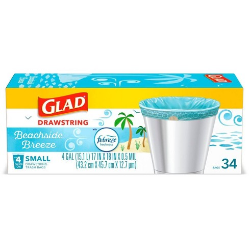 Glad Small Household Trash Bags - 4 Gallon - image 1 of 4