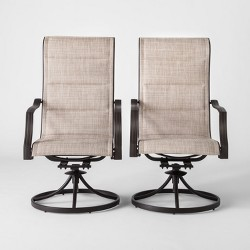 Marrion 2pk Sling Swivel Rocker Patio Dining Chair - Threshold™