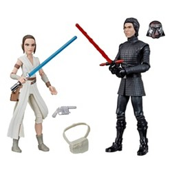 Star Wars Galaxy of Adventures Rey and Supreme Leader Kylo Action Figures
