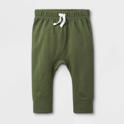Baby Boys' Orchid Leaf Jogger Pull-On Pants - Cat & Jack™ Deep Olive 0-3M