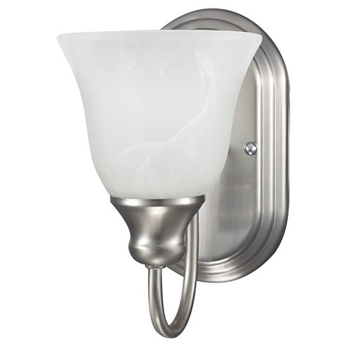 Sea Gull Lighting Windgate One Light Wall/Bath Sconce- Brushed Nickel - image 1 of 2