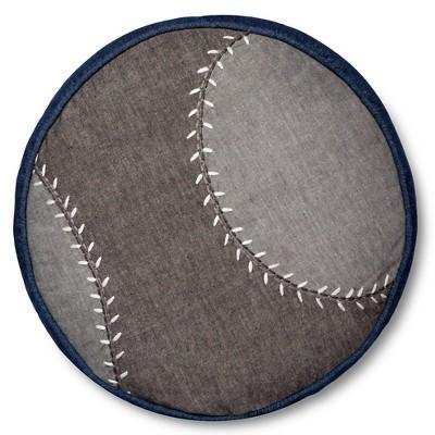 Baseball Throw Pillow - 13  Round - Gray - Pillowfort™