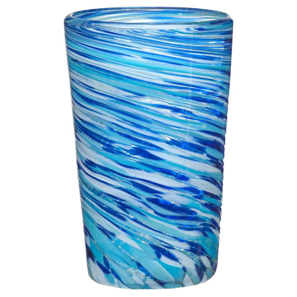 Global Amici Malibu Blue Hiball Drinkware Set - 16oz Set of 4