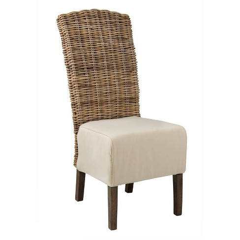Brainerd Rattan Dining Chair Gray - East At Main - image 1 of 4