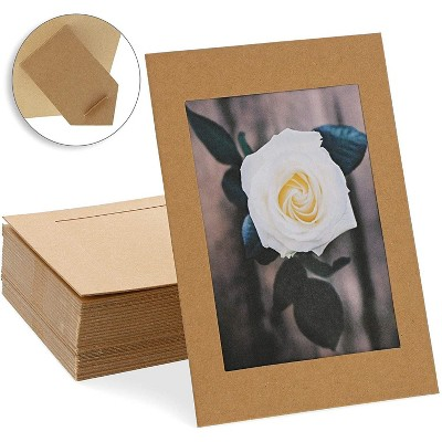 Juvale 50-Pack Cardboard Photo Picture Frames Photo Frames Easel 4x6 Inches, Kraft