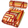 Polyester Quilted Hammock Pad and Pillow - Tropical Orange Stripe - Sunnydaze Decor - image 2 of 4