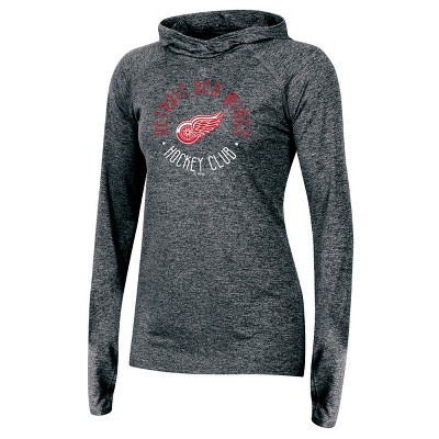 NHL Detroit Red Wings Women's For the Win Gray Performance Hoodie S