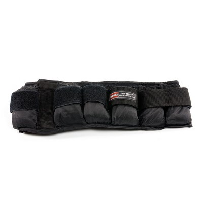 Power Systems 20 Pound Adjustable VersaFit Weighted Workout Fitness Belt, Black