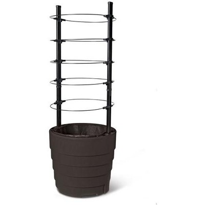 Victory Self-Watering Planter with Support System - Gardener's Supply Company