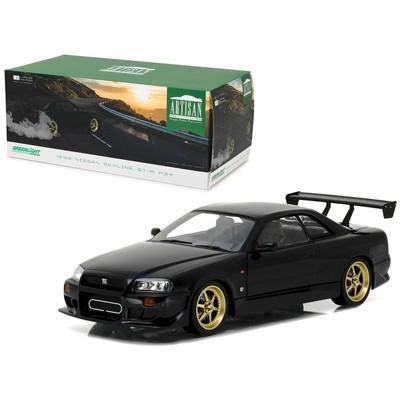 1999 Nissan Skyline GT-R (R34) Black 1/18 Diecast Model Car by Greenlight