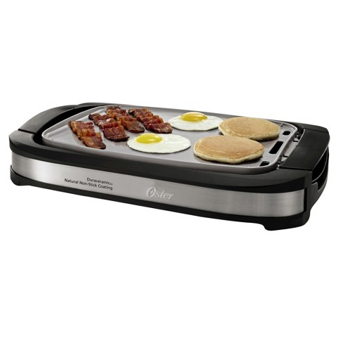 Oster® Titanium Infused DuraCeramic™ Reversible Grill & Griddle - CKSTGR3007-TECO - image 1 of 6