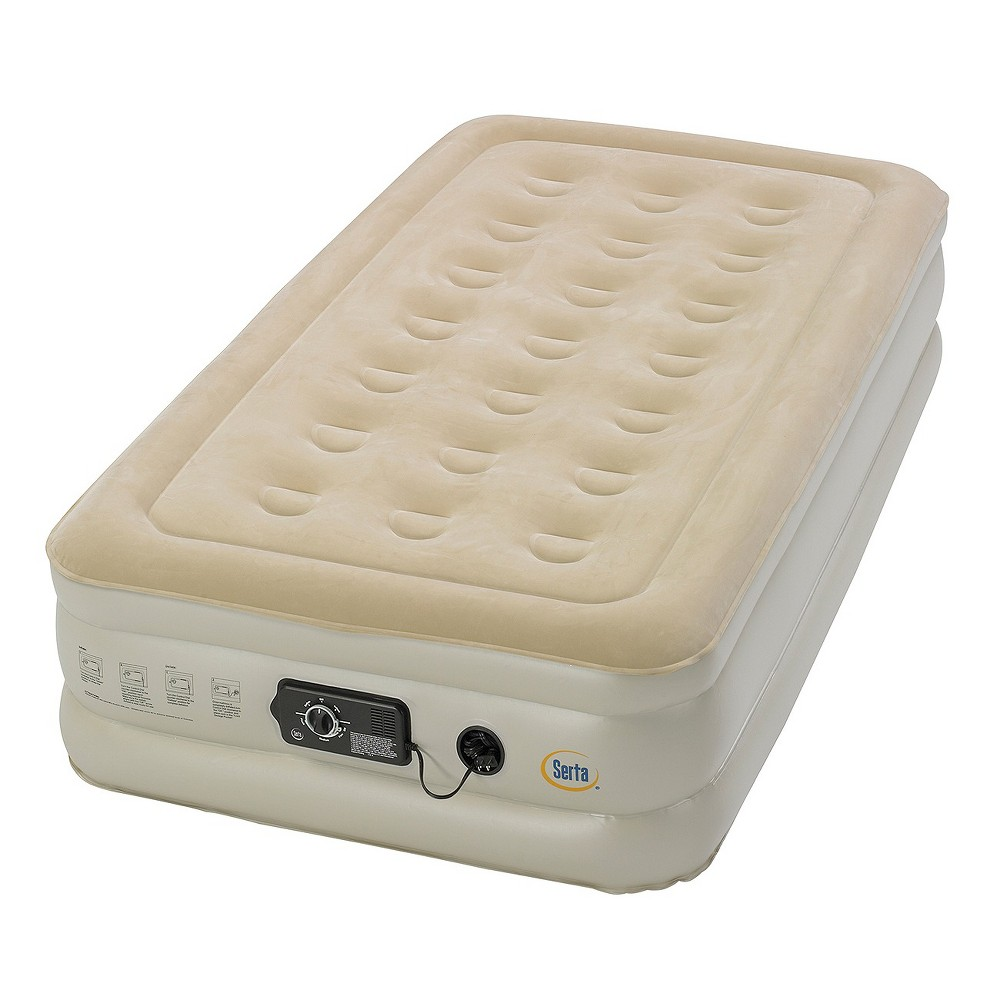 Image of Serta Comfort Air Mattress with Electric Pump - Double High Twin