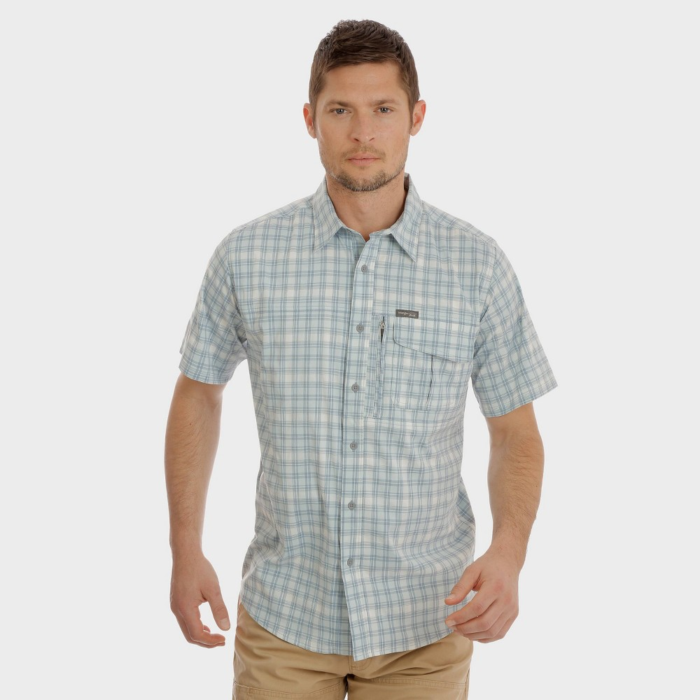 Wrangler Men's Plaid Short Sleeve Outdoor Camp Shirt - London Blue S