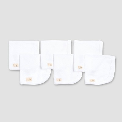 Burt's Bees Baby® Organic Cotton Washcloth Mitts - White Newborn