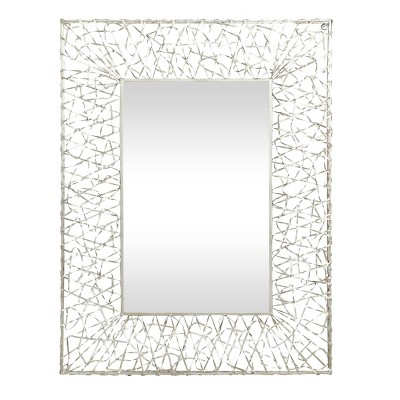 "42"" x 32"" Glam Abstract Iron Ribbon Framed Wall Mirror - Olivia & May"