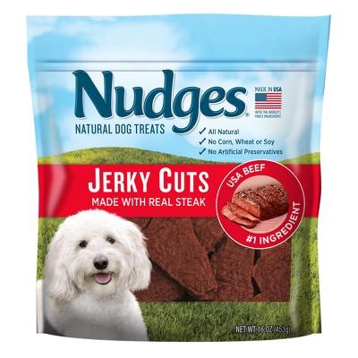 Nudges Beef Steak Jerky Cuts Natural Dog Treats - 16oz