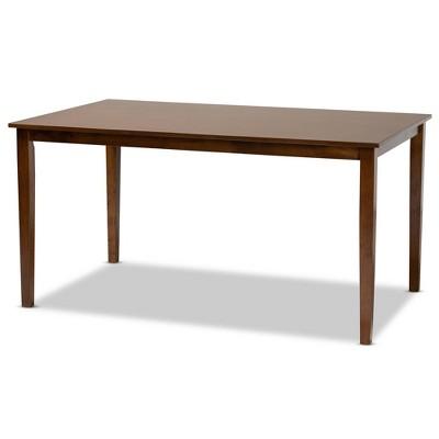 Eveline Rectangular Wood Dining Table Walnut Brown - Baxton Studio
