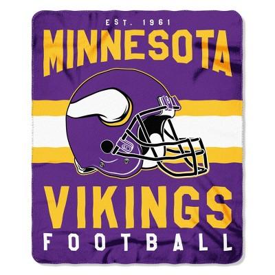 The Northwest Company Minnesota Vikings Fleece Throw , Purple