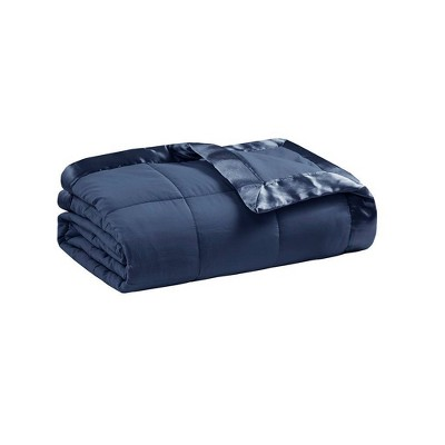 Twin Microfiber Down Alternative Blanket with 3M Scotchgard Navy