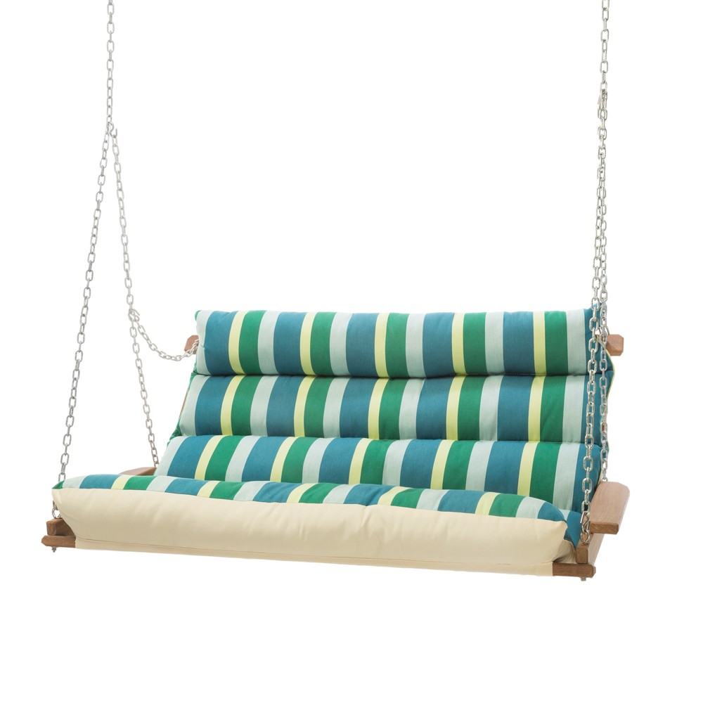 Image of Double Swing - Green/Blue Stripe - Hatteras Hammocks