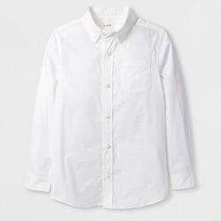 Boys' Adaptive Long Sleeve Button-Down Shirt - Cat & Jack™ White