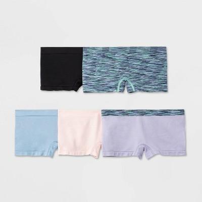 Girls' 5pk Seamless Boyshort Underwear - All in Motion™