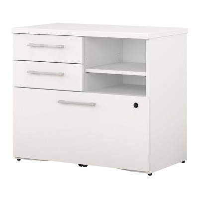 Bush Business Furniture 400 Series 30W File Cabinet, White 400SFP30WH