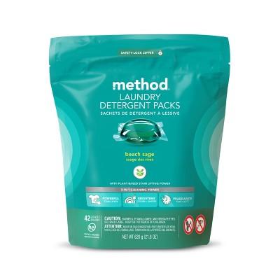 Method Beach Sage Laundry Detergent Packs - 42ct