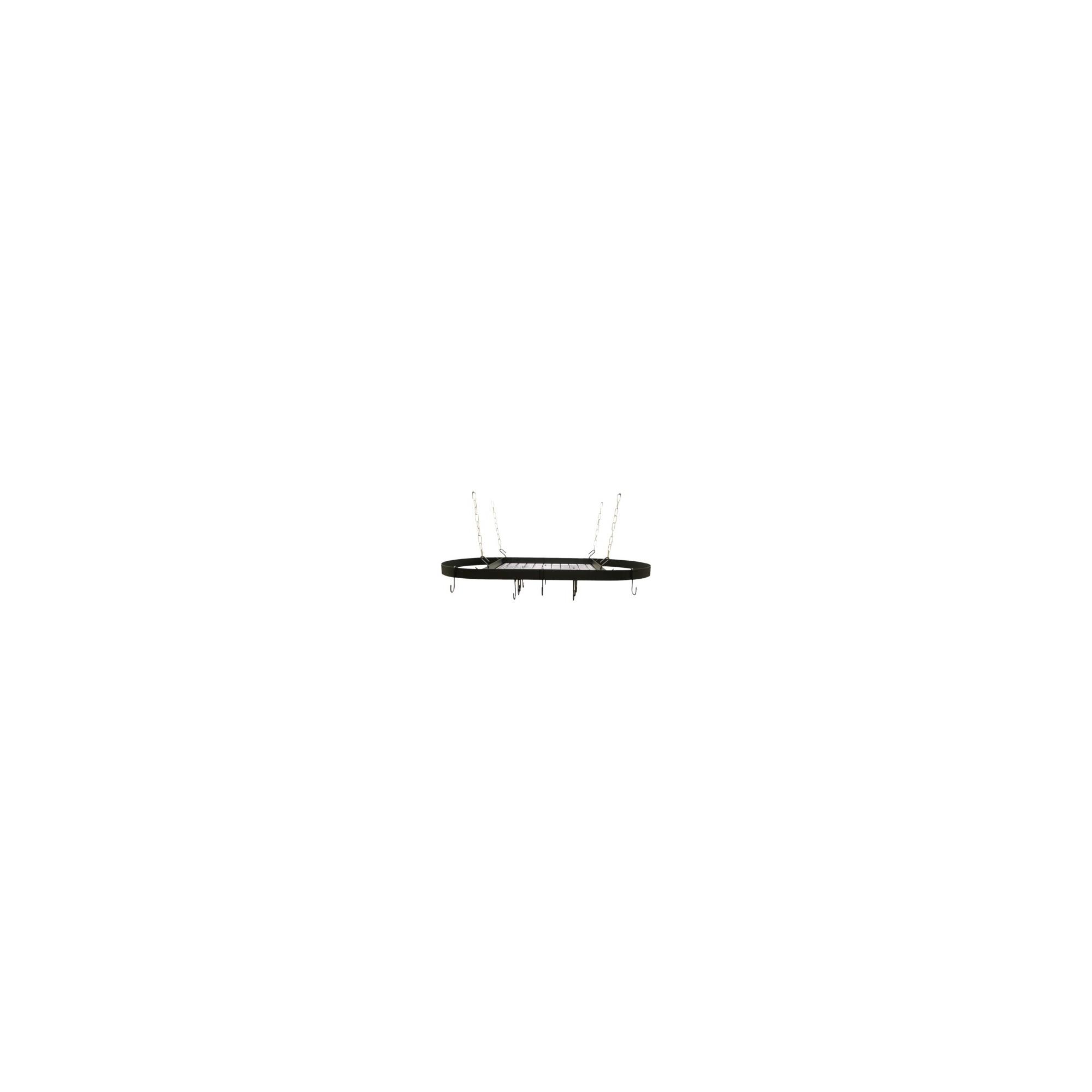 Range Kleen Oval Hanging Pot Rack - Black