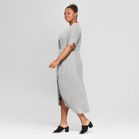 780815711d3d1 Women s Plus Size Twist Front Midi Dress - Ava   Viv™   Target