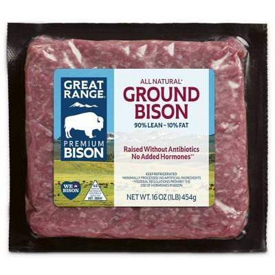 Great Range 90/10 Ground Bison - 16oz