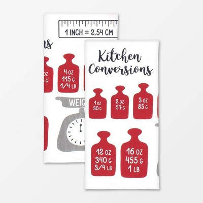 2pk Measurements Designer Print Towel - MU Kitchen