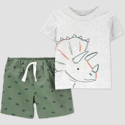 Baby Boys' Dino Top & Bottom Set - Just One You® made by carter's Green Newborn