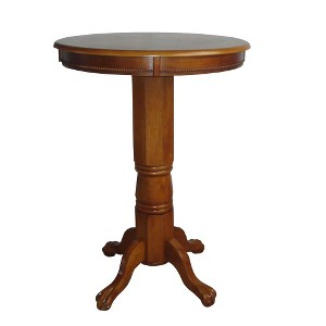 Florence Pedestal Pub Table - Boraam Industries, Brown