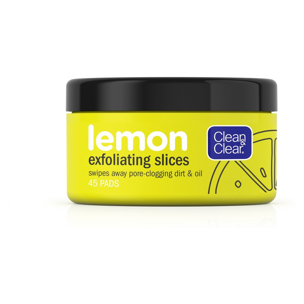 Clean & Clear Lemon Exfoliating Facial Pads with Vitamin C - 45ct