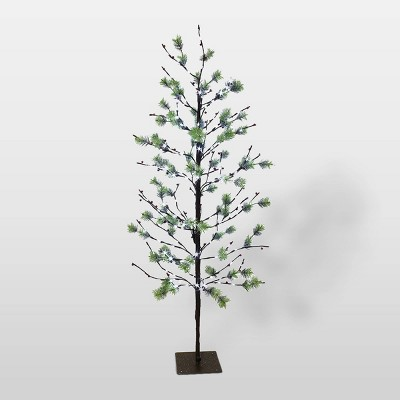 5ft Pre-Lit LED Artificial Christmas Twig Tree - Puleo