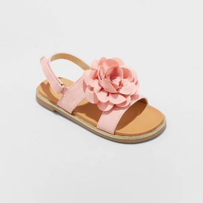 Toddler Girls' Violetta Buckle Footbed Sandals - Cat & Jack™ Blush 5