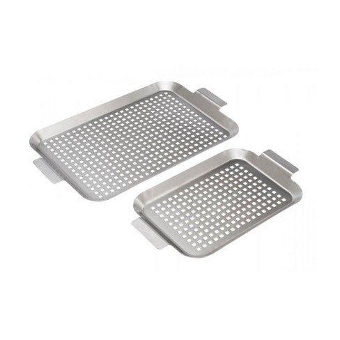 Bull 24118 Medium Large Stainless Steel Barbecue And Grill Flat Grid Pan Set Target