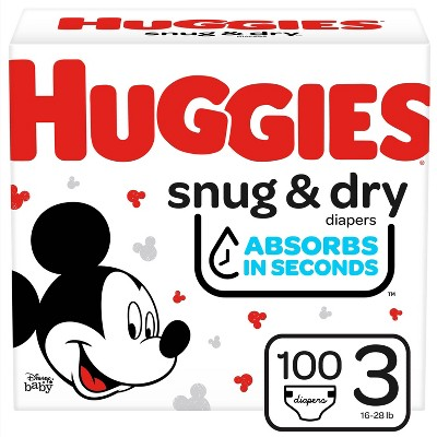 Huggies Snug & Dry Diapers Super Pack - Size 3 - 100ct