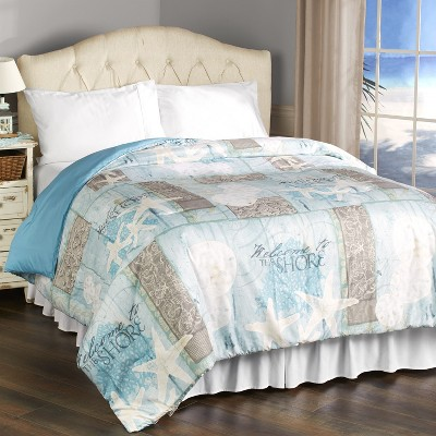 Lakeside Coastal Icons and Welcome to The Beach Bedroom Comforter