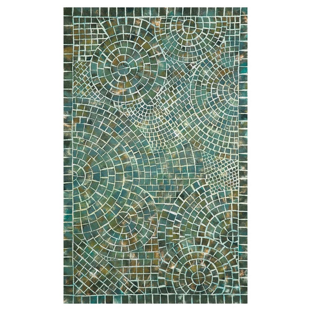 Image of Liora Manne Visions V Arch Tile Indoor/Outdoor Area Rug - Blue (8'X10')