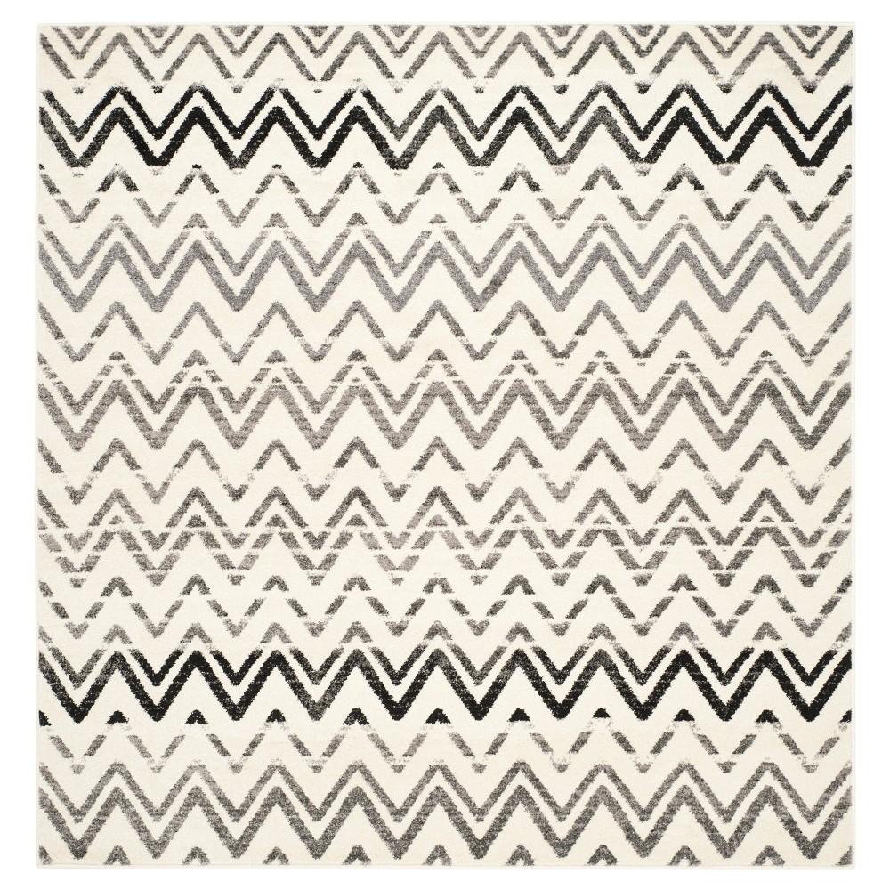 Salim Area Rug - Cream / Dark Gray ( 6' X 6' ) - Safavieh, Ivory/Dark Gray