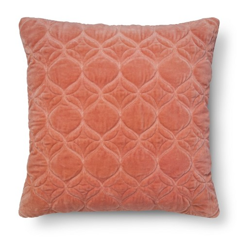Washed Velvet Square Throw Pillow (18x18) - Threshold™ - image 1 of 1