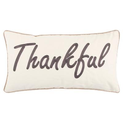 Throw Pillow Rizzy Home White Gray