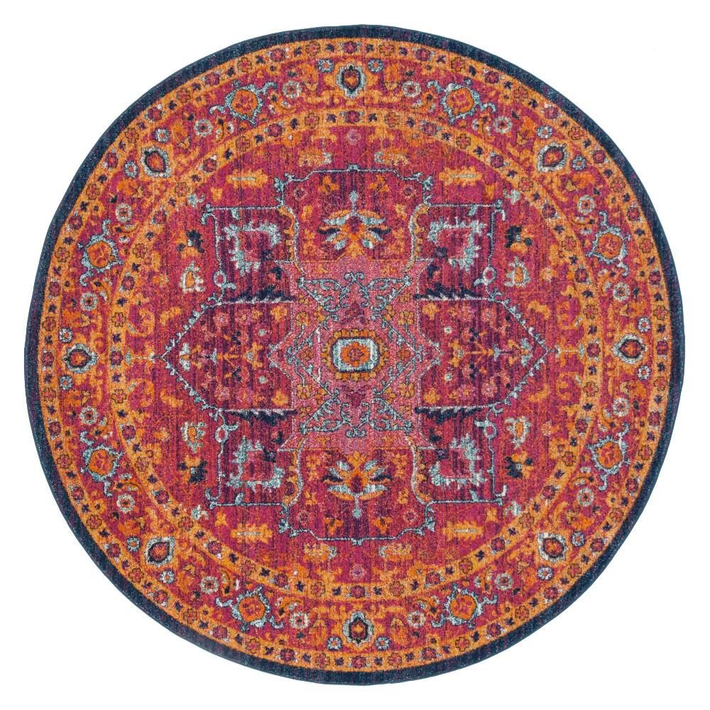 67 Round Medallion Area Rug Fuchsia/Orange - Safavieh Reviews