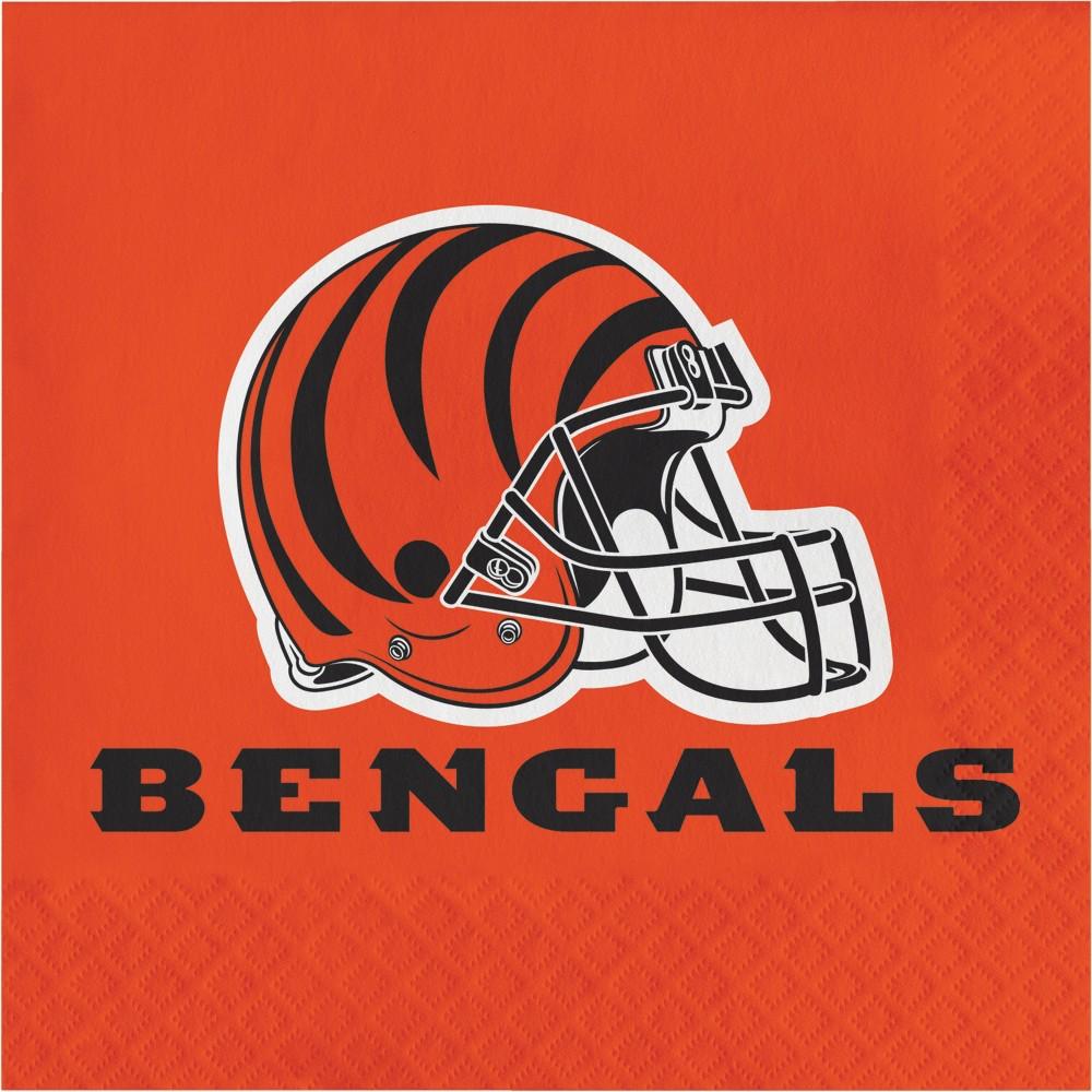 Image of 16ct Cincinnati Bengals Napkins, Multi-Colored
